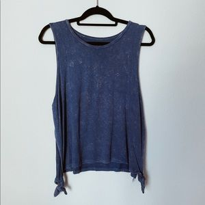 American Eagle Side Knot Tie Tank Top